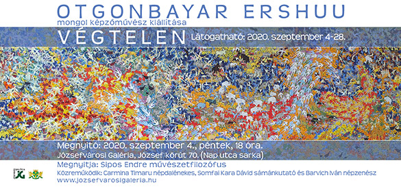 VÉGTELEN 'INFINITE' SOLO OTGO SHOW Józsefvárosi Galéria, Budapest, Hungary Opening on Friday, September 4th, 2020 The exhibition from 04 to 28 September